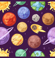 planet planetary system in space with vector image