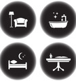set of icons for hotel services vector image