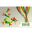 2012 Chinese calendar origami dragon vector image vector image