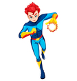 A superhero with a flaming power vector image