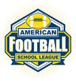 american football school league badge logo vector image vector image