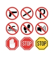 Attention sign vector image vector image