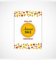 autumn leaves flyer white background vector image vector image