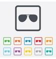 Aviator sunglasses sign icon Pilot glasses vector image vector image