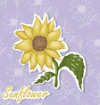 background with a flower Hand drawing of Su vector image vector image
