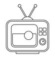 Ball on the screen of retro TV icon vector image vector image