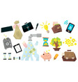 banking related icons set vector image vector image