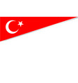 banner corner with flag republic turkey vector image