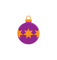 bauble christmas new year flat icon on white vector image vector image