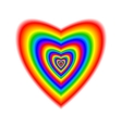 Big heart in rainbow colors vector image