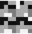 black and white patchwork quilted geometric vector image
