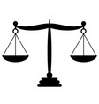black law balance symbol libra in flat design vector image vector image