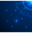 Blue shining background vector image vector image