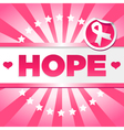 Breast Cancer Awarness Poster vector image vector image