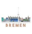 Bremen Landmarks Skyline vector image