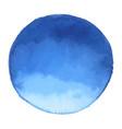 bright dark blue watercolor banner blot vector image
