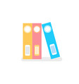 business color file office folders isolated icons vector image vector image