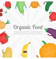 Cartoon fruits and vegetables Healthy style vector image vector image