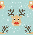 christmas reindeer seamless pattern vector image vector image