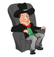 cowboy sleeping on armchair vector image
