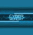 cyber monday blue digital design modern vector image