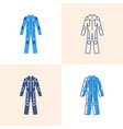 cybersuit icon set in flat and line style vector image