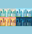 day time cityscape city buildings at morning vector image vector image