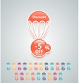 Discount parachute set vector image vector image