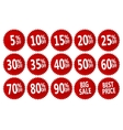 discount stickers vector image vector image