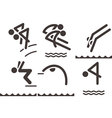 Diving icons vector image vector image