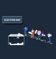 election day concept men women voters casting vector image vector image