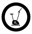 exercise bicycle stationary bike exercycle icon vector image vector image