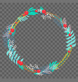 flat botanical wreath vector image vector image