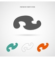 Geometry French Curve Icon vector image vector image