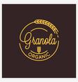 granola organic logo round linear logo granola vector image vector image