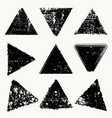 grunge triangles set vector image