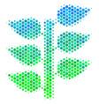 halftone blue-green flora plant icon vector image
