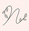 handwritten letter n monogram or logo brand vector image vector image