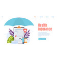 health insurance healthcare patient insurance vector image