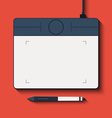 Isolated graphic tablet with the handle vector image vector image