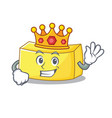 king butter mascot cartoon style vector image