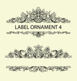 Label ornament 4 vector image vector image