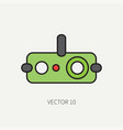 line flat color military icon - night-vision vector image vector image