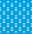 memory portrait pattern seamless blue vector image vector image
