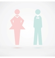 men and women wc sign silhouette vector image vector image