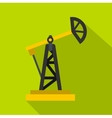 Oil rig icon flat style vector image vector image