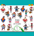 one of a kind game with pirate characters vector image vector image