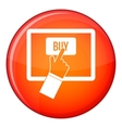 Online shopping icon flat style vector image vector image