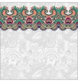 ornamental background with flower ribbon stripe vector image