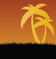 palm in nature vector image